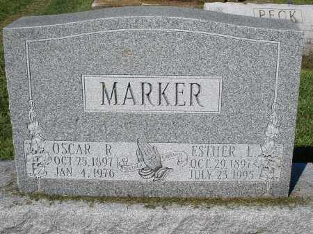 MARKER, OSCAR R. - Montgomery County, Ohio | OSCAR R. MARKER - Ohio Gravestone Photos