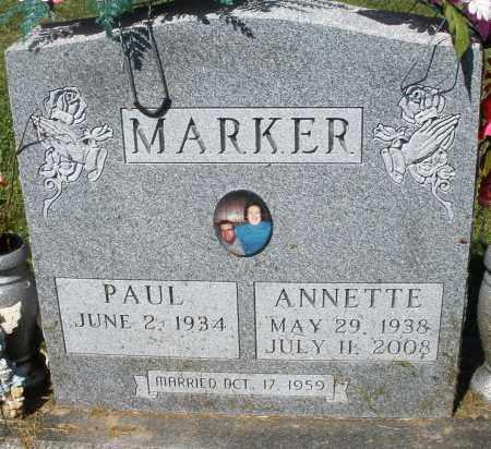 MARKER, PAUL - Montgomery County, Ohio | PAUL MARKER - Ohio Gravestone Photos