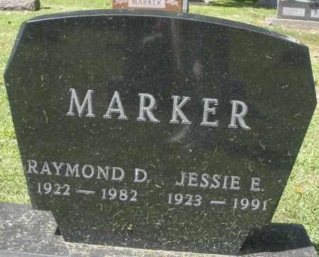 MARKER, JESSIE E. - Montgomery County, Ohio   JESSIE E. MARKER - Ohio Gravestone Photos