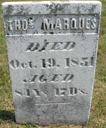 MARQUES, THOMAS - Montgomery County, Ohio | THOMAS MARQUES - Ohio Gravestone Photos