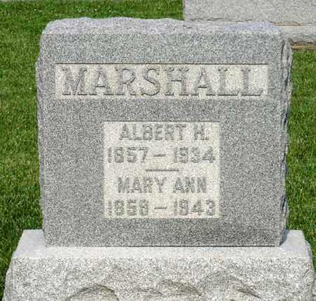 MARSHALL, MARY ANN - Montgomery County, Ohio | MARY ANN MARSHALL - Ohio Gravestone Photos
