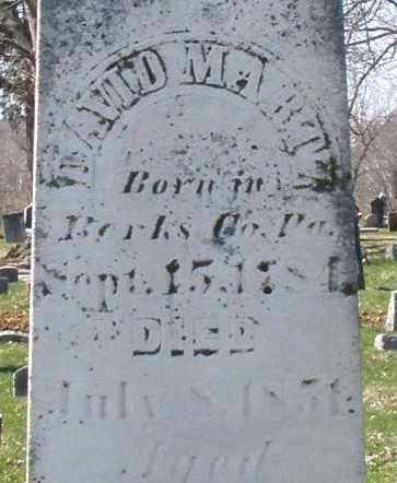 MARTZ, DAVID - Montgomery County, Ohio   DAVID MARTZ - Ohio Gravestone Photos