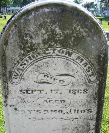 MAST, WASHINGTON - Montgomery County, Ohio | WASHINGTON MAST - Ohio Gravestone Photos