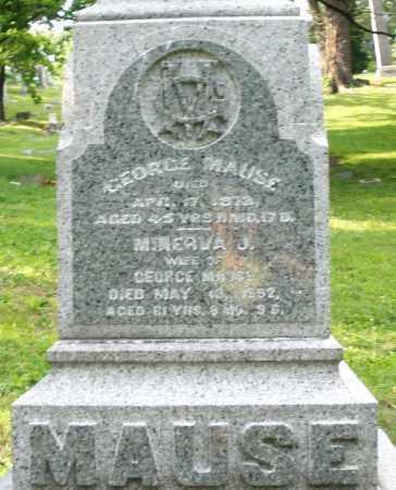MAUSE, MINERVA J. - Montgomery County, Ohio | MINERVA J. MAUSE - Ohio Gravestone Photos
