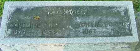 MAXWELL, CAROLINE CADE - Montgomery County, Ohio | CAROLINE CADE MAXWELL - Ohio Gravestone Photos