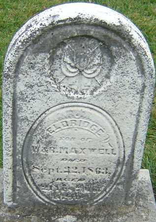 MAXWELL, ELDRIDGE - Montgomery County, Ohio | ELDRIDGE MAXWELL - Ohio Gravestone Photos