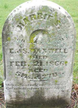 MAXWELL, HARRIE S. - Montgomery County, Ohio | HARRIE S. MAXWELL - Ohio Gravestone Photos