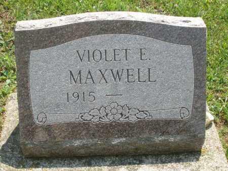 MAXWELL, VIOLET E. - Montgomery County, Ohio   VIOLET E. MAXWELL - Ohio Gravestone Photos