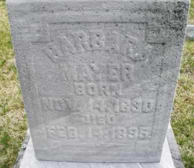 MAYER, BARBARA - Montgomery County, Ohio | BARBARA MAYER - Ohio Gravestone Photos