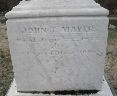 MAYER, JOHN T. - Montgomery County, Ohio | JOHN T. MAYER - Ohio Gravestone Photos
