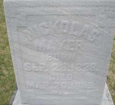MAYER, NICHOLAS - Montgomery County, Ohio | NICHOLAS MAYER - Ohio Gravestone Photos