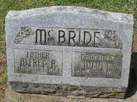 MCBRIDE, ALFRED R. - Montgomery County, Ohio | ALFRED R. MCBRIDE - Ohio Gravestone Photos