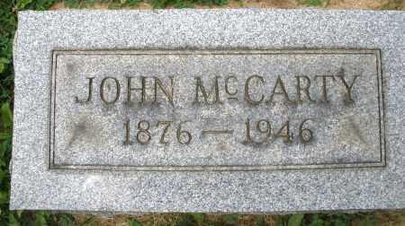MCCARTY, JOHN - Montgomery County, Ohio | JOHN MCCARTY - Ohio Gravestone Photos