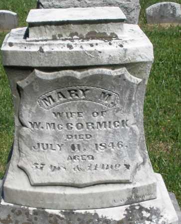 MCCORMICK, MARY M. - Montgomery County, Ohio   MARY M. MCCORMICK - Ohio Gravestone Photos