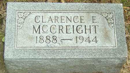 MCCREIGHT, CLARENCE E - Montgomery County, Ohio   CLARENCE E MCCREIGHT - Ohio Gravestone Photos