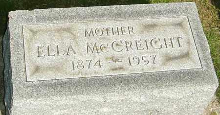 LOWERY MCCREIGHT, ELLA ELVIRA - Montgomery County, Ohio | ELLA ELVIRA LOWERY MCCREIGHT - Ohio Gravestone Photos