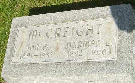 MCCREIGHT, NORMAN - Montgomery County, Ohio | NORMAN MCCREIGHT - Ohio Gravestone Photos