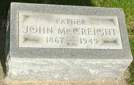 MCCREIGHT, JOHN WILLIAM - Montgomery County, Ohio   JOHN WILLIAM MCCREIGHT - Ohio Gravestone Photos