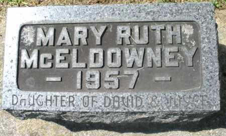 MCELDOWNEY, MARY RUTH - Montgomery County, Ohio | MARY RUTH MCELDOWNEY - Ohio Gravestone Photos
