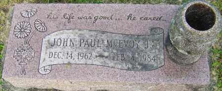 MCEVOY JR, JOHN PAUL - Montgomery County, Ohio | JOHN PAUL MCEVOY JR - Ohio Gravestone Photos