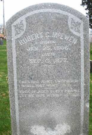 MCEWEN, ROBERT C - Montgomery County, Ohio | ROBERT C MCEWEN - Ohio Gravestone Photos