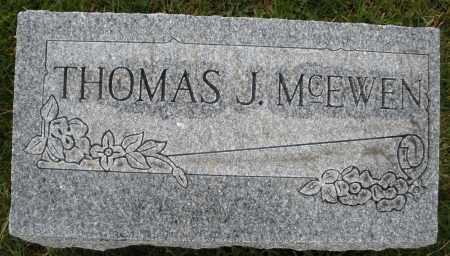 MCEWEN, THOMAS J. - Montgomery County, Ohio | THOMAS J. MCEWEN - Ohio Gravestone Photos