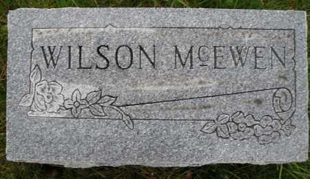 MCEWEN, WILSON - Montgomery County, Ohio   WILSON MCEWEN - Ohio Gravestone Photos