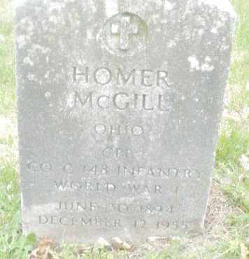 MCGILL, HOMER - Montgomery County, Ohio | HOMER MCGILL - Ohio Gravestone Photos
