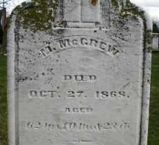 MCGREW, M. - Montgomery County, Ohio | M. MCGREW - Ohio Gravestone Photos