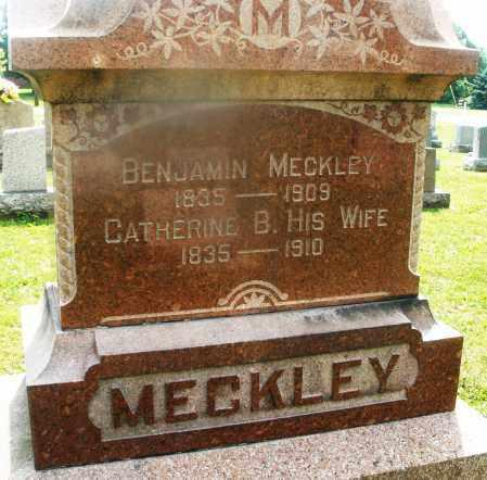 MECKLEY, CATHERINE B. - Montgomery County, Ohio | CATHERINE B. MECKLEY - Ohio Gravestone Photos