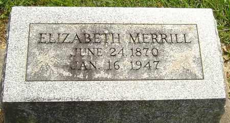 MERRILL, ELIZABETH - Montgomery County, Ohio | ELIZABETH MERRILL - Ohio Gravestone Photos
