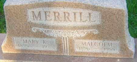 MERRILL, MALCOLM - Montgomery County, Ohio | MALCOLM MERRILL - Ohio Gravestone Photos