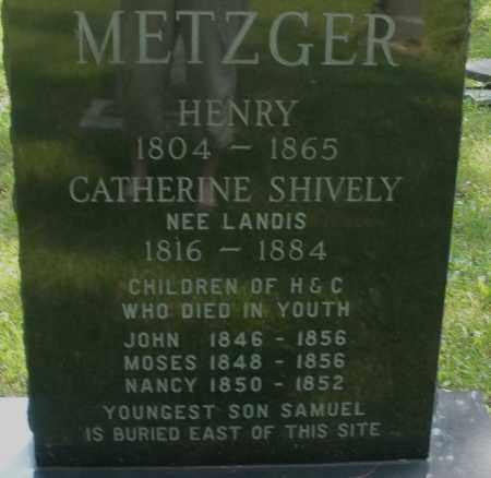 METZGER, MOSES - Montgomery County, Ohio | MOSES METZGER - Ohio Gravestone Photos