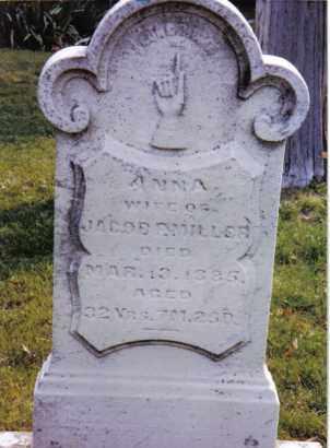 MILLER, ANNA - Montgomery County, Ohio | ANNA MILLER - Ohio Gravestone Photos