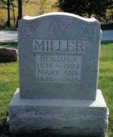 MILLER, MARY ANN - Montgomery County, Ohio | MARY ANN MILLER - Ohio Gravestone Photos