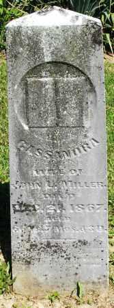 MILLER, CASSANDRA - Montgomery County, Ohio | CASSANDRA MILLER - Ohio Gravestone Photos