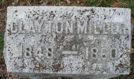 MILLER, CLAYTON - Montgomery County, Ohio   CLAYTON MILLER - Ohio Gravestone Photos