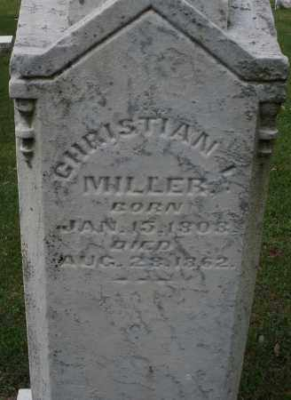 MILLER, CHRISTIAN - Montgomery County, Ohio   CHRISTIAN MILLER - Ohio Gravestone Photos