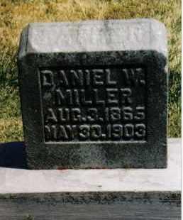 MILLER, DANIEL W. - Montgomery County, Ohio   DANIEL W. MILLER - Ohio Gravestone Photos
