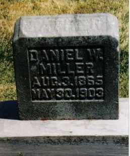 MILLER, DANIEL W. - Montgomery County, Ohio | DANIEL W. MILLER - Ohio Gravestone Photos