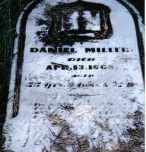 MILLER, DANIEL - Montgomery County, Ohio   DANIEL MILLER - Ohio Gravestone Photos