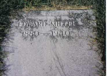MILLER, EDWARD - Montgomery County, Ohio | EDWARD MILLER - Ohio Gravestone Photos