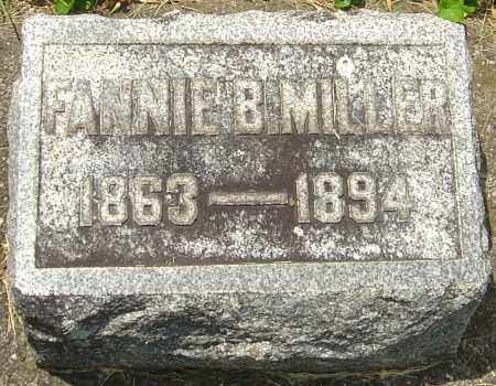 MILLER, FANNIE B - Montgomery County, Ohio | FANNIE B MILLER - Ohio Gravestone Photos