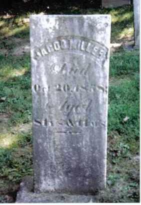 MILLER, JACOB - Montgomery County, Ohio   JACOB MILLER - Ohio Gravestone Photos
