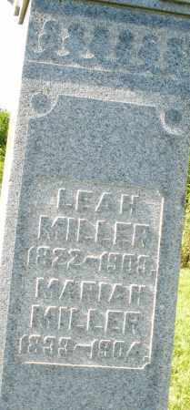 MILLER, LEAH - Montgomery County, Ohio | LEAH MILLER - Ohio Gravestone Photos