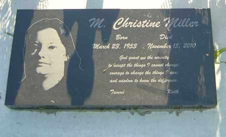MILLER, M CHRISTINE - Montgomery County, Ohio   M CHRISTINE MILLER - Ohio Gravestone Photos