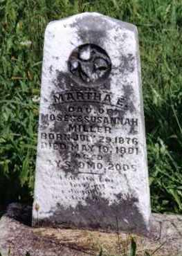 MILLER, MARTHA E. - Montgomery County, Ohio   MARTHA E. MILLER - Ohio Gravestone Photos