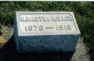 MILLER, M. MARTHA - Montgomery County, Ohio   M. MARTHA MILLER - Ohio Gravestone Photos