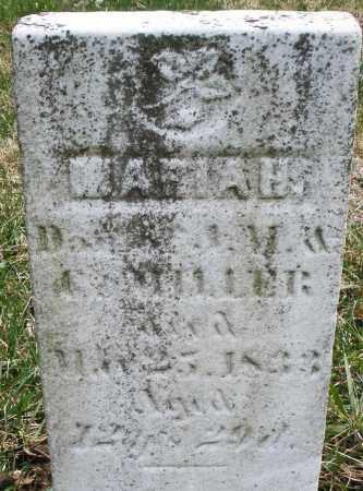 MILLER, MARIAH - Montgomery County, Ohio   MARIAH MILLER - Ohio Gravestone Photos