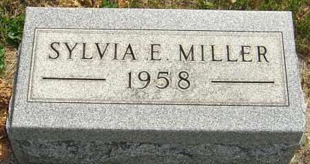 MILLER, SYLVIA E - Montgomery County, Ohio | SYLVIA E MILLER - Ohio Gravestone Photos